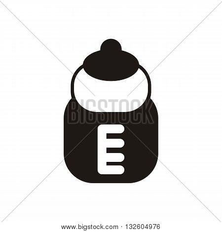 design Baby icon pacifier bottle_Black illustration vector