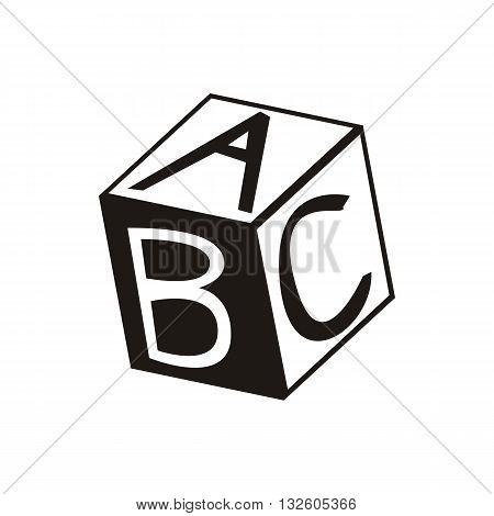design Baby icon toy cube_Black vector illustration