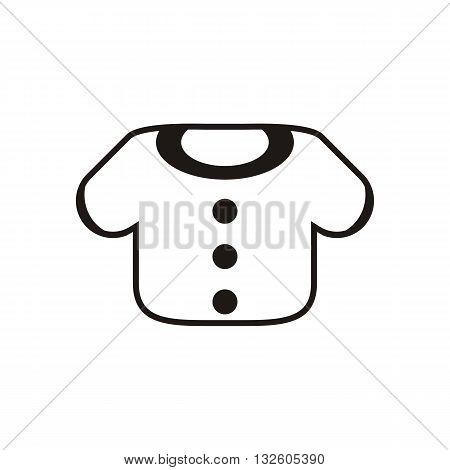 design Baby icon clothing_Black vector illustration logo