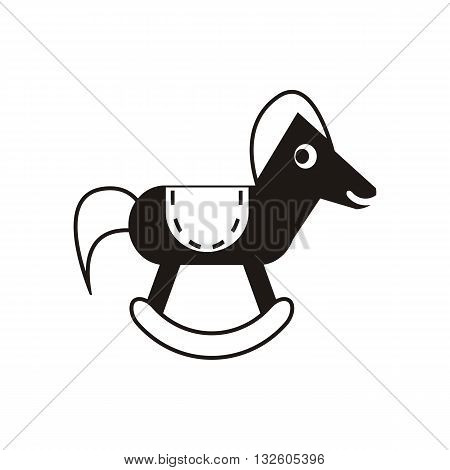 design Baby icon toy horse_Black animal vector illustration