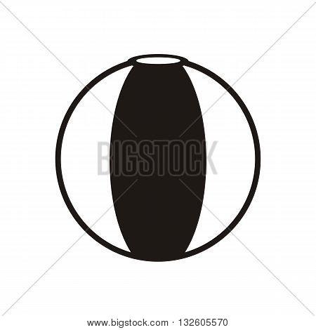 design Baby icon ball_Black toy vector illustration