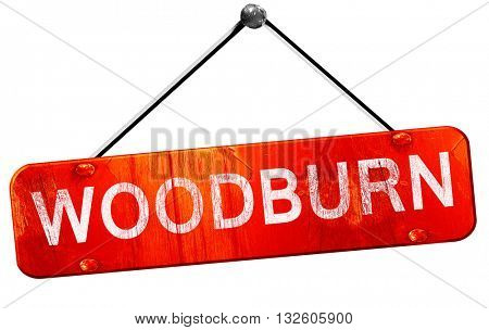 woodburn, 3D rendering, a red hanging sign