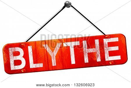 blythe, 3D rendering, a red hanging sign