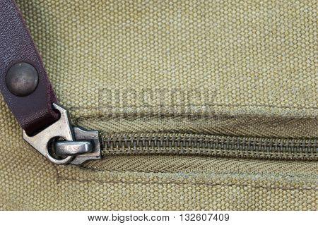 Close the zipper closeup texture canvas design background