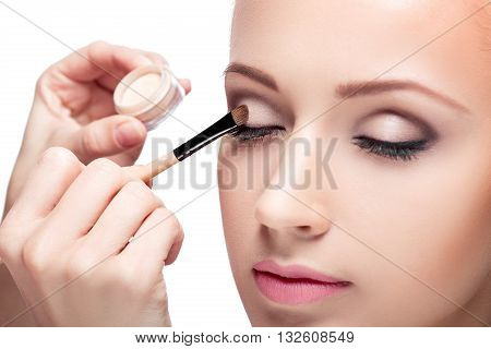 Makeup.  Eye Shadow Brush