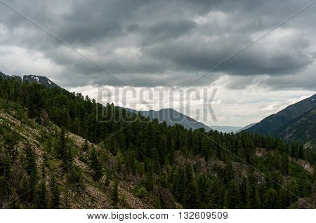 Landscape view in a mountain in Altay