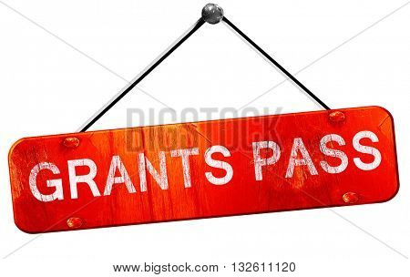 grants pass, 3D rendering, a red hanging sign