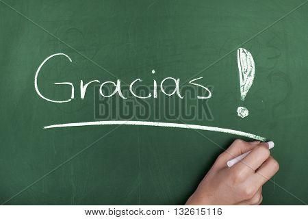 Gracias / Thank you in spanish language