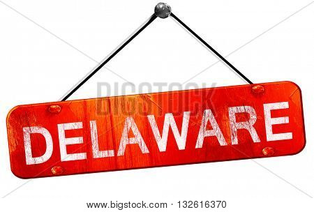 delaware, 3D rendering, a red hanging sign