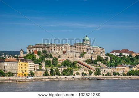 the National Gallery overlooking the Danube River in Budapest