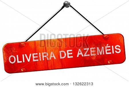 Oliveira de azemeis, 3D rendering, a red hanging sign