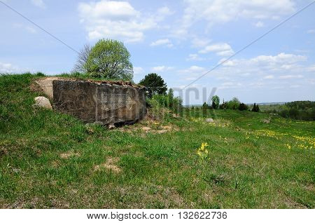 old machine gun bunker on the hill