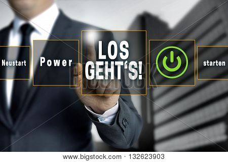 Los Gehts (in German Here We Go) Touchscreen Concept Background