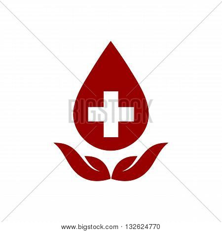 Blood donors sign icon vector illustration isolated on white background.