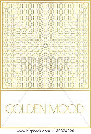 Ornamental design. Golden style.For flyer invitation booklet folder pamphlet brochure e-book book cover. Decorative vector illustration.