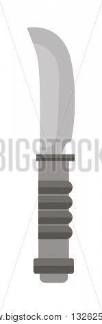 Military knife vector illustration.