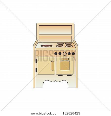 Old cooker vector illustration isolated on white background.