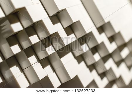 Abstract background with stairway shape. Light and shadow.