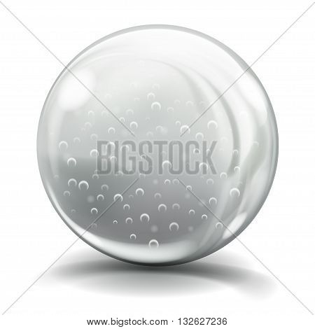 Big Gray Glass Sphere With Air Bubbles