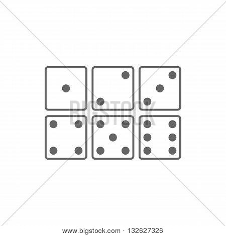 Dices icon set vector illustration isolated on white background.