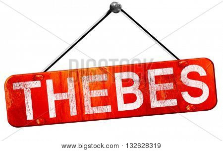thebes, 3D rendering, a red hanging sign