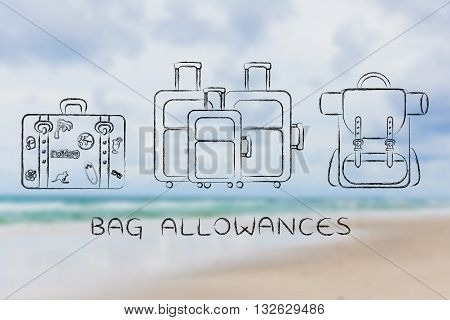 Types Of Travel Bags, Caption Bag Allowances