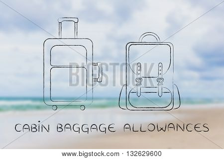 Travel Bag And Backpack, Caption Cabin Baggage Allowances