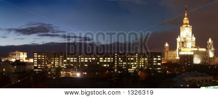 Panorama Of Lomonosov Moscow State University Territory