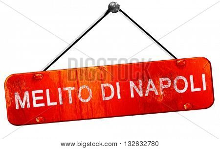 Melito di napoli, 3D rendering, a red hanging sign