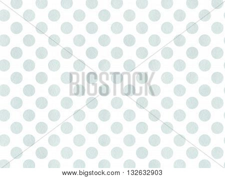 Watercolor Dots In Blue Color Isolated Over White.