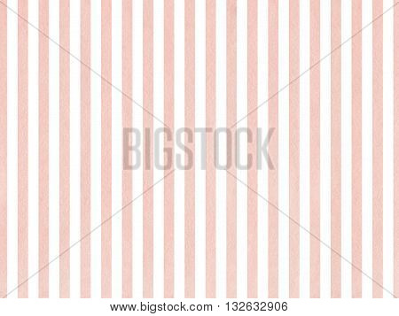 Watercolor Pink Stripes Background.
