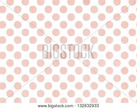 Watercolor Dots In Pink Color Isolated Over White.