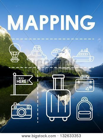 Location Mapping Journey Navigation Concept