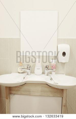 Interior of a bathroom Spa
