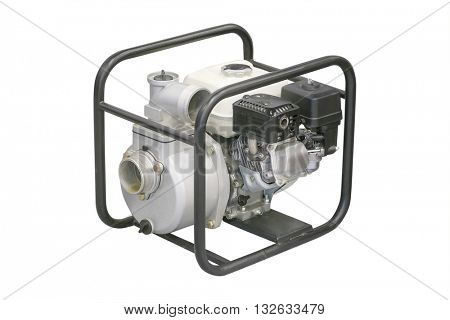 gasoline generator isolated on a white background