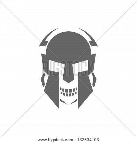 Robot skull or mask vector illustration isolated on white background.