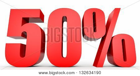 Discount 50 Percent Off. 3D Illustration.