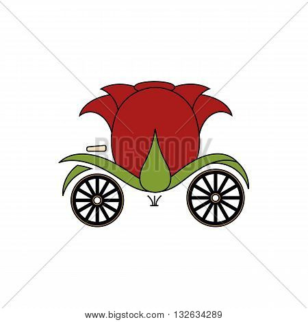 Beautifull rose flower like carriages vector illustration isolated on white background.