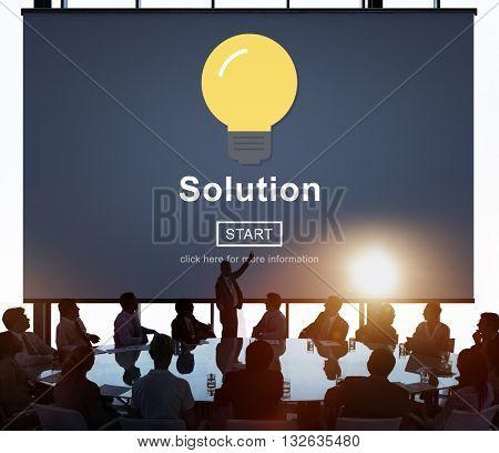 Solution Decision Solved Improvement Information Concept