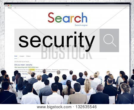 Security Privacy Protection Surveillance Safety Concept