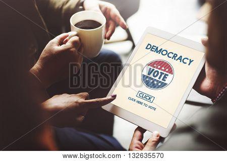 Democracy Democrats Human Rights Liberty Freedom Concept