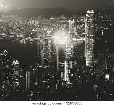 Cityscape Buildings Urban Scene Concept