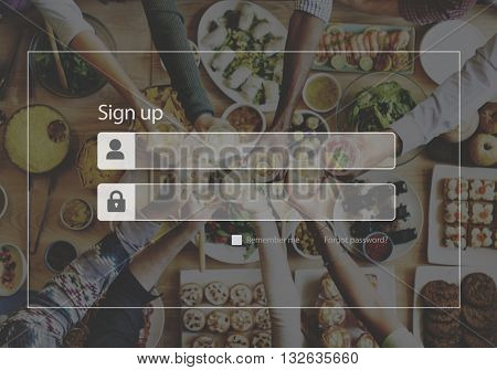 Log In Sign Up Website Concept