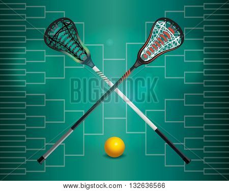 Lacrosse Tournament Illustration