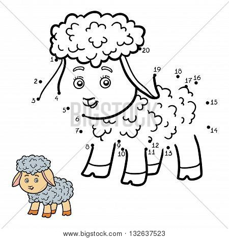 Numbers Game For Children. Little Sheep