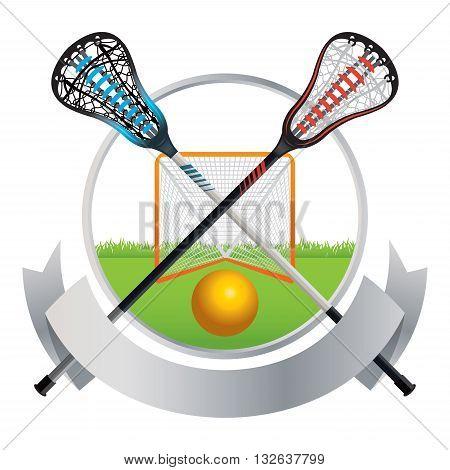 Lacrosse Emblem And Banner Design