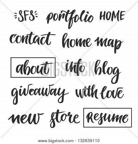 Set of blog design elements. Perfect for your design projects quotes blogs posters and more.