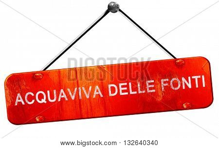 Acquaviva delle fonti, 3D rendering, a red hanging sign