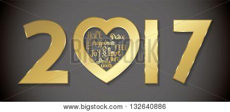 Love 2017 Greeting Card