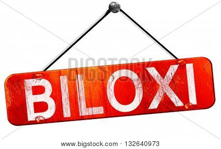 biloxi, 3D rendering, a red hanging sign